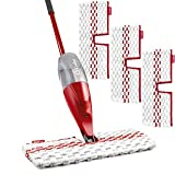 O-Cedar ProMist MAX Microfiber Spray Mop with 3 Extra Refills, Red