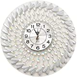 DIEFMJ Relojes para Cocina Cocina Reloj de Pared Sala de Estar Reloj de Pared Reloj silencioso, Relojes y Relojes, Barra Redonda, Dormitorio Decorado Oficina Estilo de Moda (Color: B)