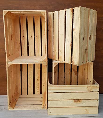 Generisch 6 stabile und Starke holzkisten in einem natürlichen und verbrannten Stil. 30x40x50 cm. Die Boxen sind sauber und eignen Sich perfekt zur aufbewahrung, Dekoration oder als hängendes
