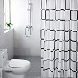 WEIXINHAI Duschvorhang Im Bad Shower Curtains 72 x 80 Zoll Aus 100prozent PEVA DuschvorhäNge Anti-Schimmel Rostschutzdichtung 12 Duschvorhangringen