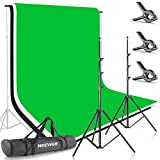 Neewer 8.5ft X 10ft/2.6M X 3M Background Stand Support System with 6ft X 9ft/1.8M X 2.8M...