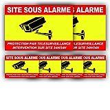 Autocollant Vidéosurveillance + plastification de Protection Anti UV : Protection par télésurveillance - Intervention sur site 24H/24H - CRJ (Lot 1 : 2+4)