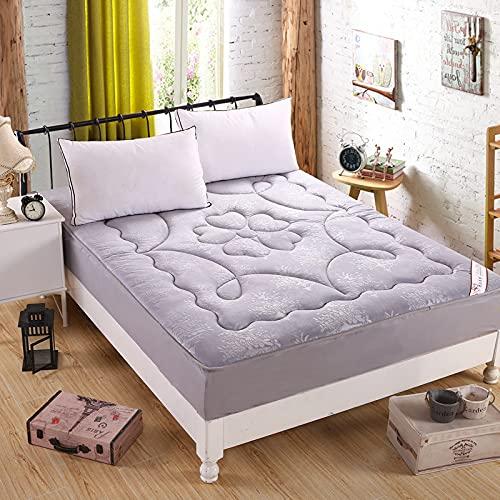 YDyun Sänglakan polyester bomullsblandning mjuk och kristallsammet ett stycke madrasskydd kan tvättas