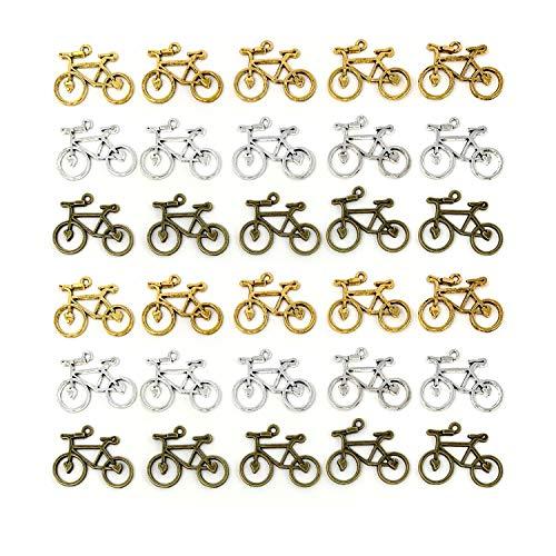 JIALEEY - Abalorios para bicis de doble cara, colgantes para hacer collares y pulseras, 30 unidades