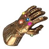 yacn Thanos Infinity Handschuh für Cosplay, Marvel Heroes Unendlichkeit Edelsteine, Avengers Infinity War (LED-PVCglove)