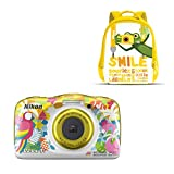 Nikon Coolpix W 150 - Cámara digital compacta de 13.2 MP (pantalla LCD de 3', video full HD, impermeable, estabilizador óptico) amarillo/blanco
