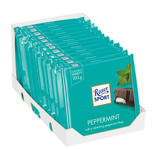 12 x Chocolade Reep Ritter Sport Pepermunt 100 gram