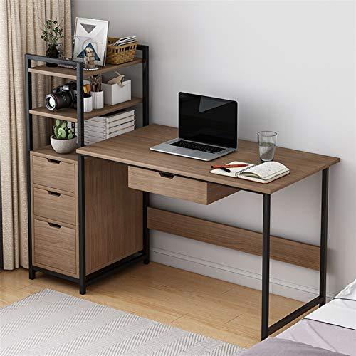 FurnitureR Escritorio de la computadora con soporte de la CPU, escritorio del ordenador portátil con estantes Cajones Moderno Home Office Tabla de juego Estación de trabajo Estudio Escritorio de escri