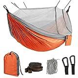 Idefair Hamac avec moustiquaire, Double hamac de Camping, moustiquaire, moustiquaire, étanche, Portable et...