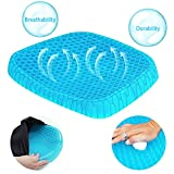 Gel Seat Cushion,Honeycomb Design Cushion Super Breathable Gel Cushion Body Pressure Distribution Portable