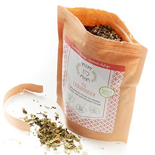 Mom to Mom® Frauenglück XL - Frauentee - Menstruations Tee - Wohltuend während der Periode (u.a. mit Frauenmanteltee Bio & Schafgarbe Tee) – 80g loser Bio-Tee