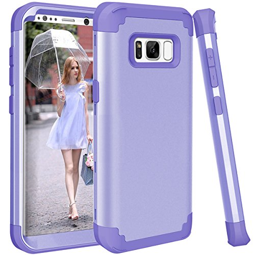 Daker - Carcasa para Galaxy S8 Plus, de plástico Duro híbrido de Alto Impacto y Goma de Silicona Suave, protección Completa para Galaxy S8 Plus