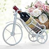 ZYL-YL Dekorationen Art Craft Tricycle Weinregal aus Schmiedeeisen-Display stehen Zimmer Hauptdekoration Wein leben 6 Rack