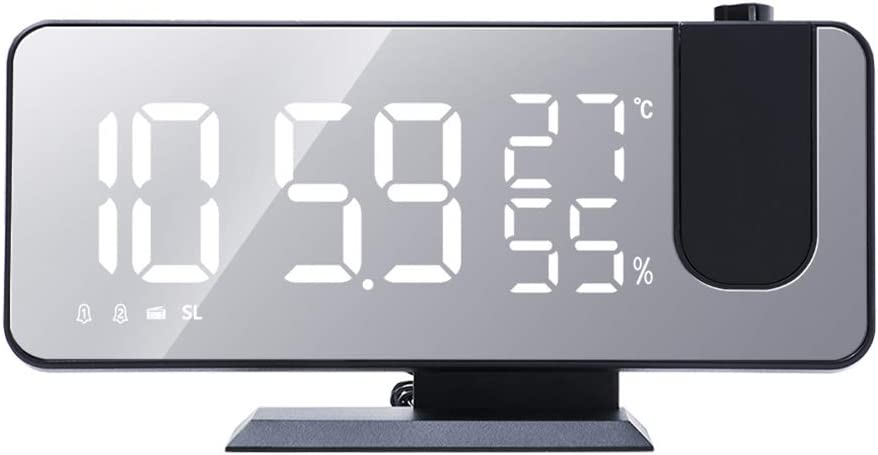 IMIKEYA Projection Digital Alarm with Weather Clock Max 50% OFF Virginia Beach Mall Tempera