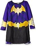 DC Comics Girls' Big BatDC Hero Long Sleeve Dorm with Cape, Black/Purple, 7/8