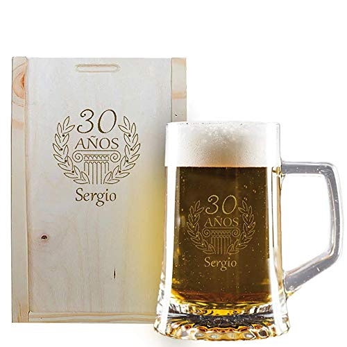 Calledelregalo Regalo de cumpleaños Personalizado: Jarra de Cerveza grabada con su Nombre...