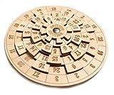 [page_title]-Logica Spiele Art. Euclide - Unglaubliches Mathematisches Denkspiel - Schwierigkeit 4/6 Extrem - Knobelspiel - Geduldspiel aus Holz