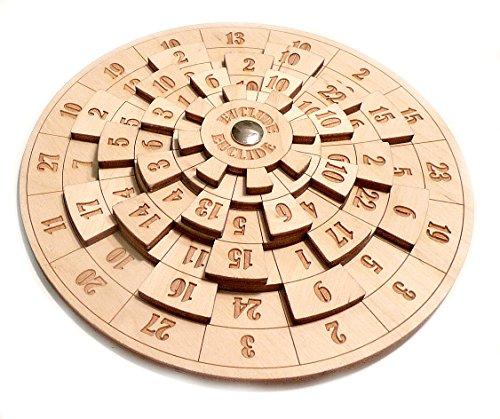 LOGICA GIOCHI Art. Euclide - Rompicapo Matematico in Legno - Difficoltà 4/6 Estremo - Collezione Euclide