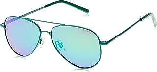 Polaroid Kids' Sunglasses, Green Grey Speckled Pz, 52 (PLD 8015/N K7 1ZU 1ZU)