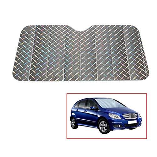 Car Window zonneklep, Sunscreen Insulation zilver aluminium folie Reflecterende Zonblok voorruit eenvoudig te reinigen Zonnescherm 130-140CM (Size : 130 * 70CM)