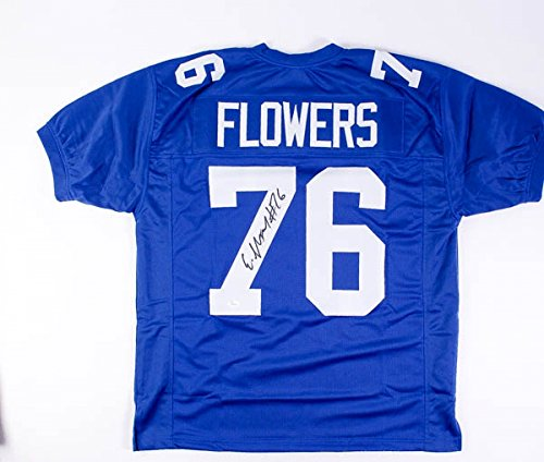 ERECK FLOWERS SIGNED NEW YORK GIANTS CUSTOM ON-FIELD JERSEY w/ JSA WITNESSED COA