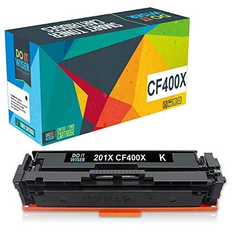 Do it wiser Cartuchos de Tóner 201A 201X Compatibles para HP 201X 201A CF400X CF400A Laserjet Pro MFP M277dw M277n M252dw M252n M274n (Negro, Individual)