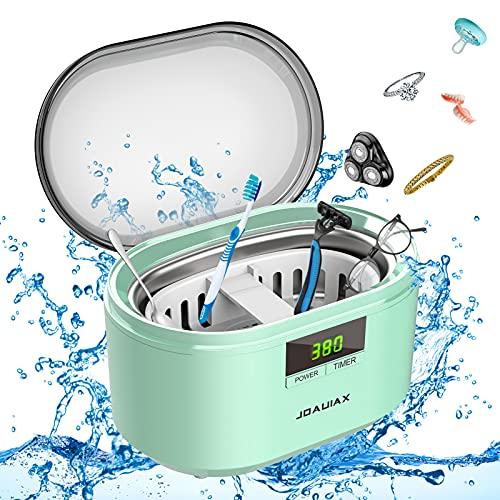 Limpiador ultrasónico Limpiador ultrasónico Dispositivo ultrasónico 50W 48 kHz Limpiador ultrasónico digital Limpiador con 5 modos de tiempo para el hogar Gafas Joyas Relojes Prótesis dental - JHUC01