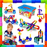Pipes - Building Blocks Toys for Kids STEM Toys for 2 3 4 5 Year Old Boys Toys 2-4 Fun Educational Building Toys for Toddlers Blocks for Kids Stem Early Learning Toys Preschool 3-5 Gift for Boy & Girl