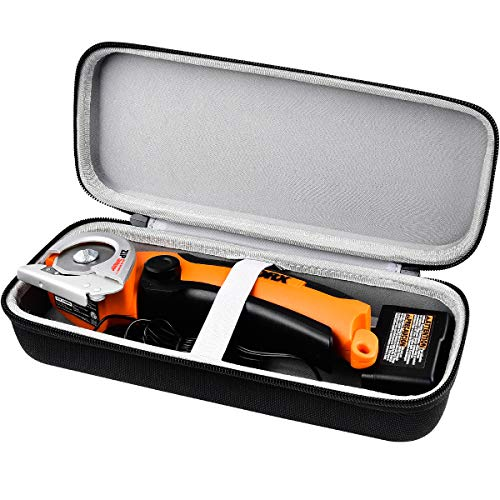 Carrying Case compatible with WORX WX081L ZipSnip Cutting Tool, Fabric Cutter Storage Bag Rotorazer Saw Container, Mini Circular Saw Organizer Box