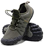 Weweya Barefoot Shoes Men Cross Training Five Fingers Minimalist Running Zero Drop Wide Toe Box Shoe Size 11 Army Green