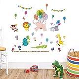 Adesivi Murali Animali Adesivi da Parete Rimovibile Adesivo murale per Bambini Stickers Murali Parete Muro Decorazione Murale, Per Camerette Bambini Camera da Letto Soggiorno (animale)