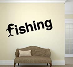 Fishing Wall Decals Relax Tourism Wall Sticker For Living Room Reovable Wall Stickers For Bedroom Window Decor 42X144Cm