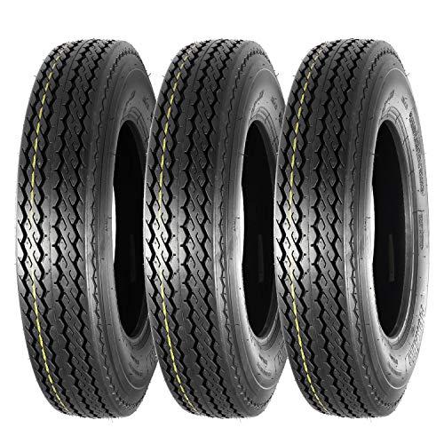 Set of 3 Highway Boat Motorcycle Trailer Tire 5.30-12 5.30x12 6PR Load Range C