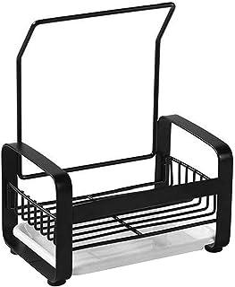 Porte-évier porte-éponge en acier inoxydable racks avec plateau amovible pour les organisateurs de l'évier de cuisine et l...