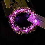G-RF Créativité Veilleuse LED 3 PCS LED lumière rougeoyante Corolle Anneau for Les Enfants en Plein air Soirée (Multicolor) (Color : Pink)