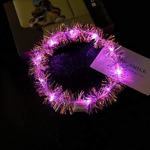 Veilleuse Night Light 3 PCS LED Glowing Corolle Anneau for les enfants en plein air Soirée (Multicolor) (Couleur : Rose)