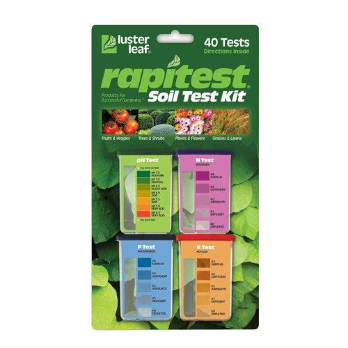 Luster Leaf 1601 Rapitest Soil Tester, Test Kit for pH, N, P and K