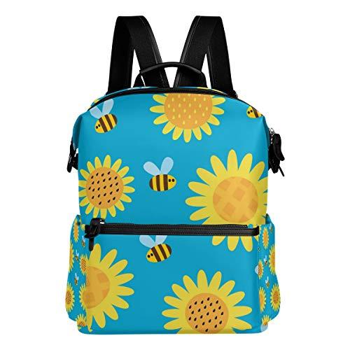 Rugzak rugzak reisdagrugzak schattige bijen zonnebloem boekentas nonchalante reis waterdicht