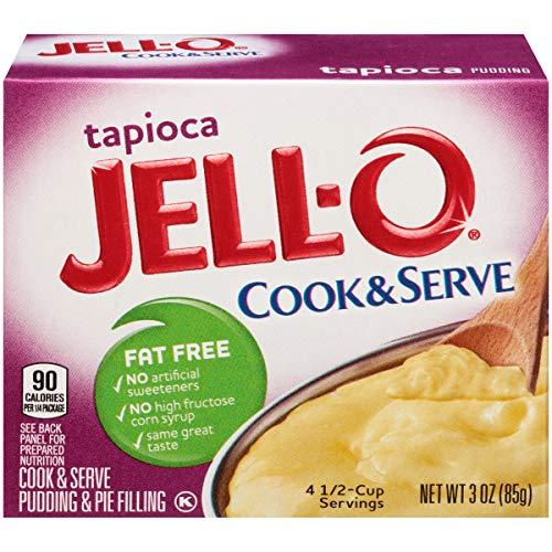 JELL-O Fat Free Tapioca Pudding & Pie Filling Mix (3 oz Box)