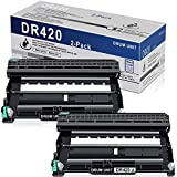 2 Pack Black Compatible High Yield Drum Unit DR420 DR-420 Replacement for Brother DCP 7060D 7065D Intellifax 2840 2940 MFC 7360N 7365DN 7460DN 7860DWHL 2130 2132 2250DN 2270DW 2275DW 2280DW Printer