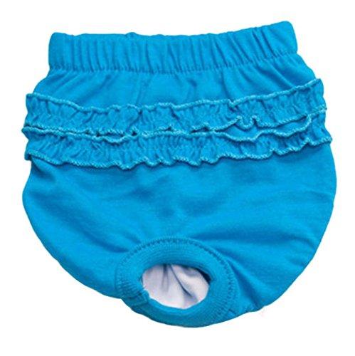 wuayi Culotte hygiénique mignonne pour chiot, chiot, chiot, chiot, chiot, chiot, chiot, femelle, taille L, bleue.