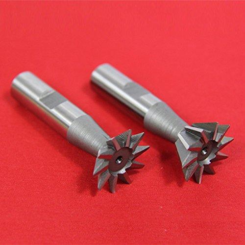 2 Pc 3/8″ X 45° & 3/8″ X 60° Dovetail Cutter Set High Speed Steel HSS Milling