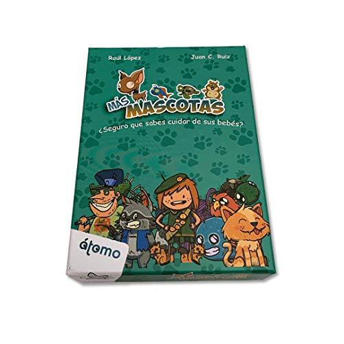 Atomo Games-Más Mascotas Juego de Cartas, Multicolor (XAG-22914)