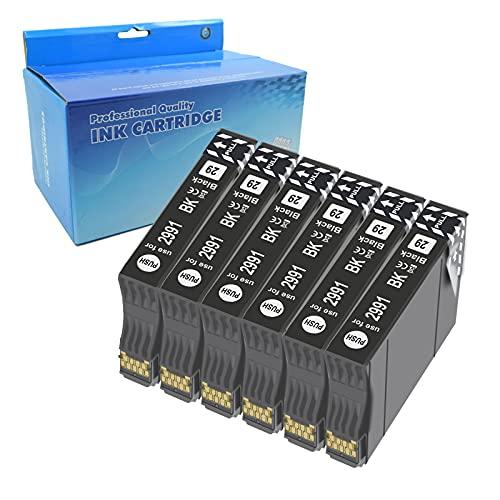 Teng 6negro 29XL Cartuchos de Tinta para Epson 29 XL Compatible con Epson Expression Home XP-235 XP-245 XP-247 XP-255 XP-332 XP-335 XP-345 XP-352 XP-355 XP-432 XP-442 XP-445 XP-452 XP352