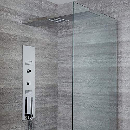 Hudson Reed Narus - Digitales Unterputz Duschpaneel mit 1000mm glashaltendem Duschkopf