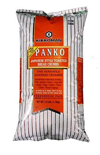 Kikkoman Panko Japanese Style Toasted Bread Crumbs Food Service Pack 2.5 lbs (1.13 kg)