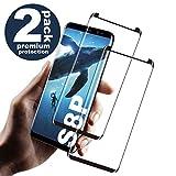 Galaxy S8 Plus Film Protection Ecran Verre Trempé, [2 Pièces] [Ultra Claire] [Dureté 9H] [Plein écran] [Anti Rayures]Film...