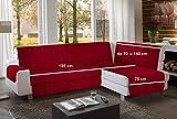 la biancheria di casa Simplicity Plus Angle Copri Salva Divano per divani ad Angolo (195 cm, bordò)