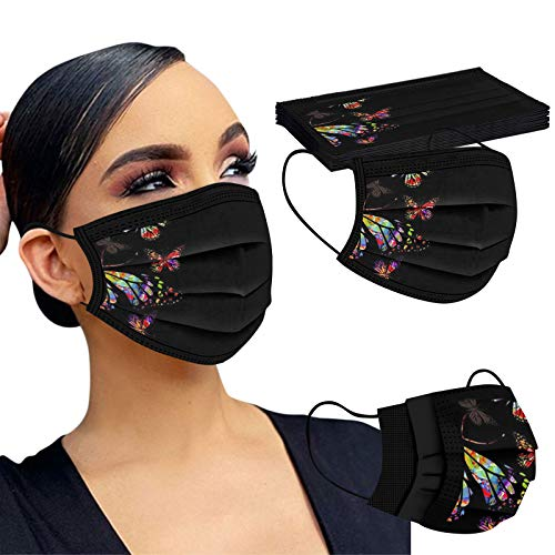 HEnri 10 Stück Einweg-Masken, Unisex, für Erwachsene, Weihnachtsmotiv, dreilagig, Schutz für Weihnachten, Party