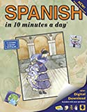 SPANISH in 10 minutes a day: Language course for beginning and advanced study. Includes Workbook, Flash Cards,...